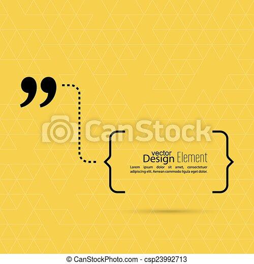 Quote sign icon. - csp23992713