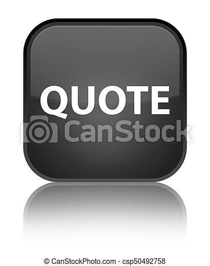 Quote special black square button - csp50492758