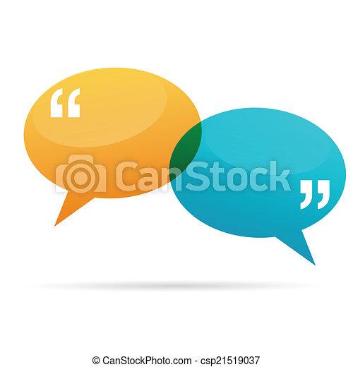 Quote Talk Bubbles - csp21519037