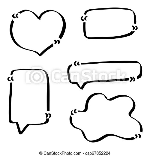 Quotes hand drawn set template - csp67852224