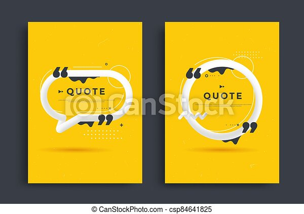 Quotes poster templates design set with speech - csp84641825