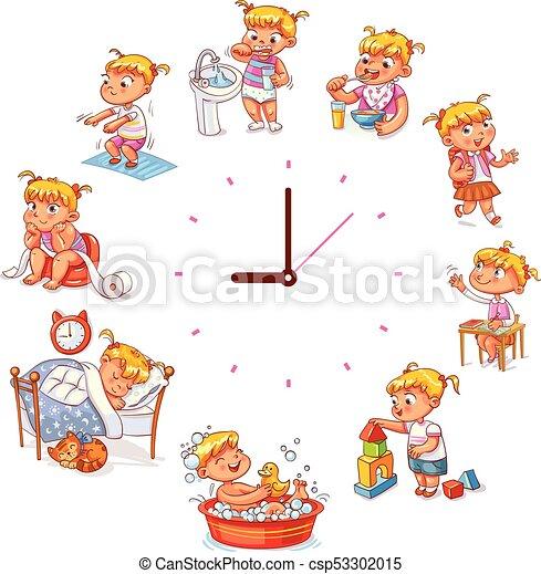 quotidiennement, simple, routine, montres - csp53302015