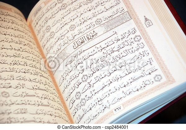 quran, święty - csp2484001