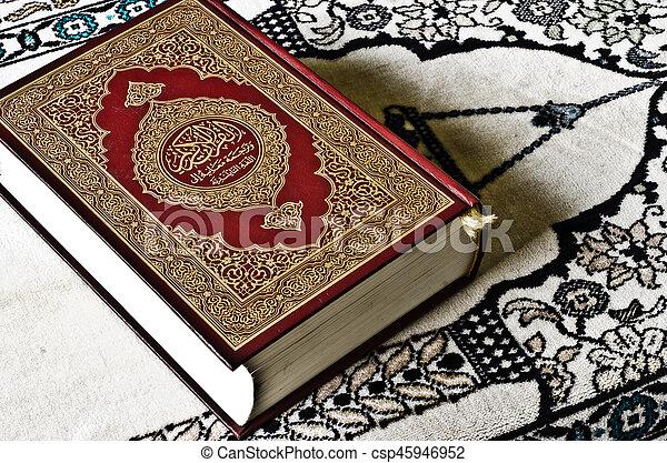 quran, święty - csp45946952