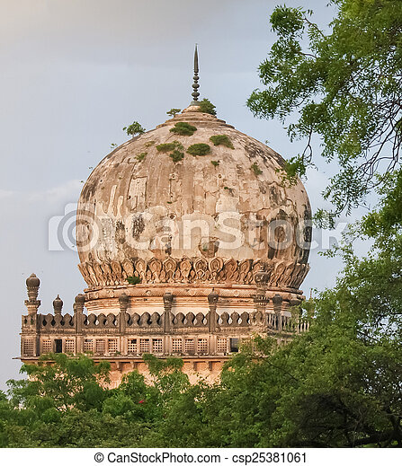 Qutb Shahi Tombs in Hyderabad, India - csp25381061