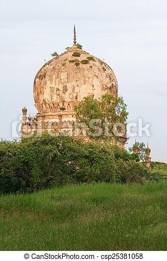 Qutb Shahi Tombs in Hyderabad, India - csp25381058