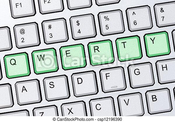 Qwerty keyboard - csp12196390