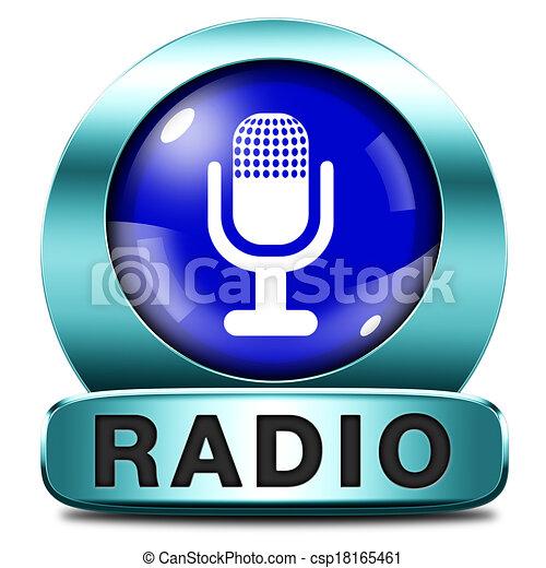rádio, ícone - csp18165461