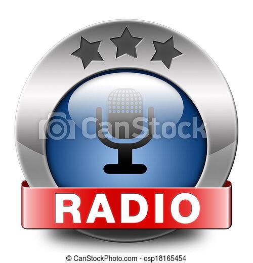 rádio, ícone - csp18165454