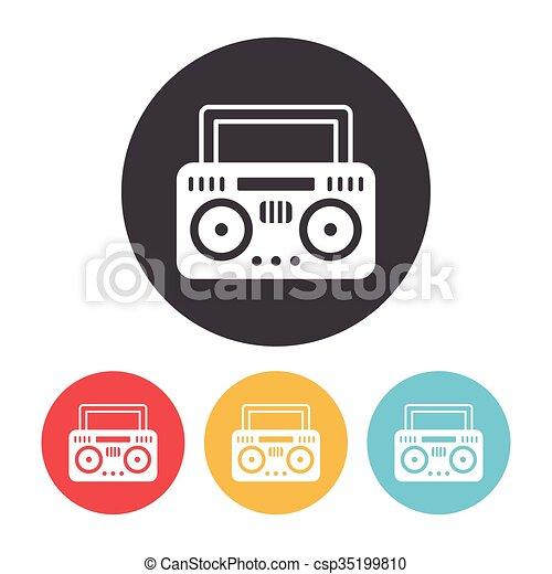 rádio, ícone - csp35199810