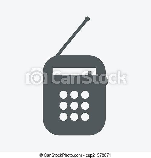 rádio, ícone - csp21578871