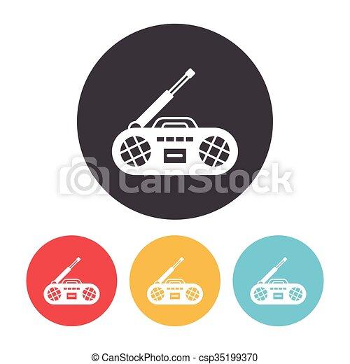 rádio, ícone - csp35199370
