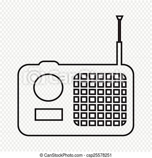 rádio, ícone - csp25578251