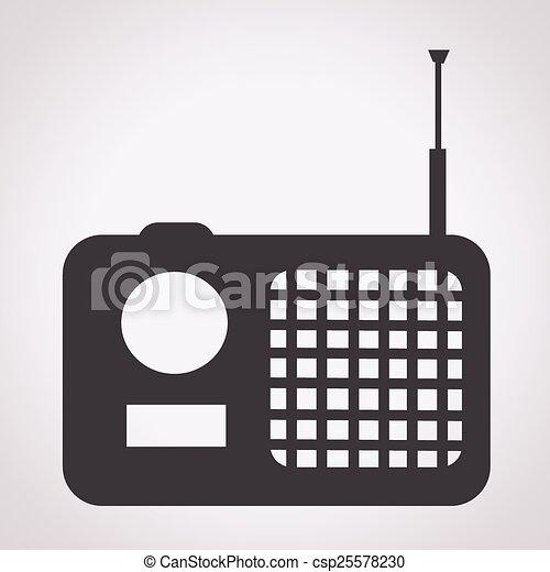 rádio, ícone - csp25578230