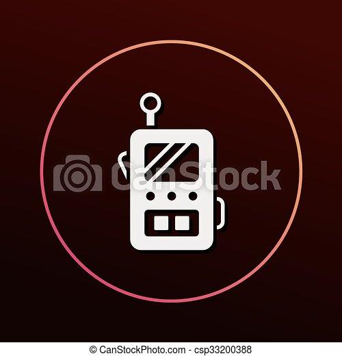 rádio, ícone - csp33200388