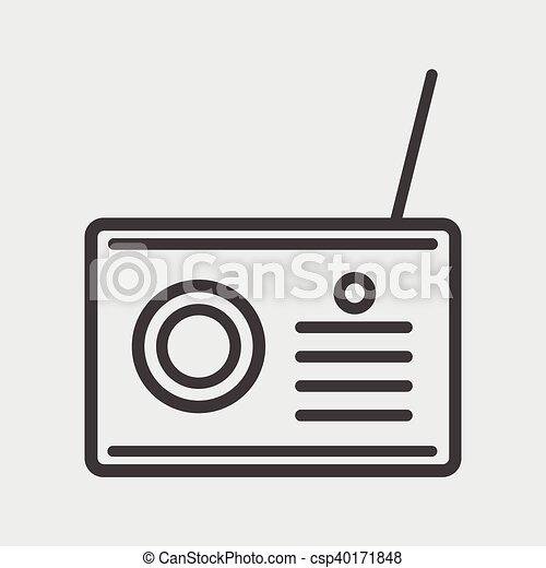 rádio, ícone - csp40171848