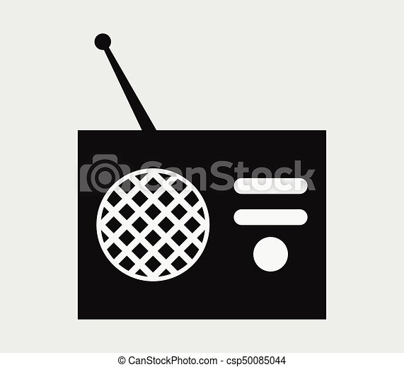 rádio, ícone - csp50085044
