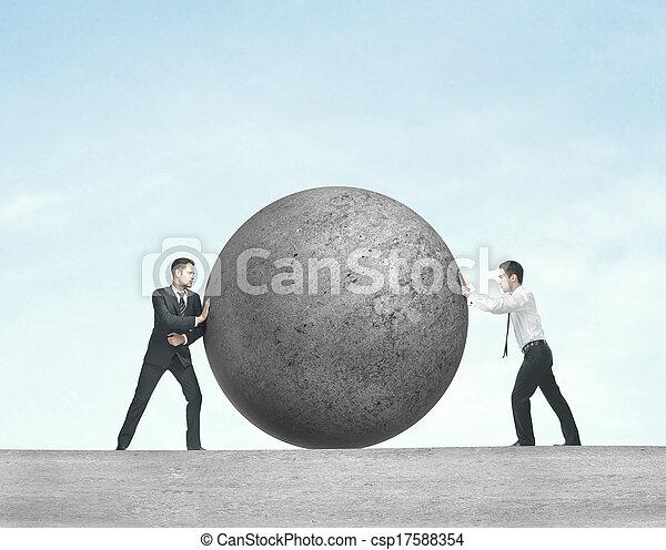 rámenős, két, labda, ember - csp17588354