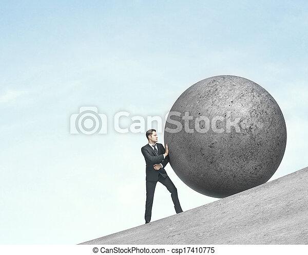 rámenős, labda, ember - csp17410775