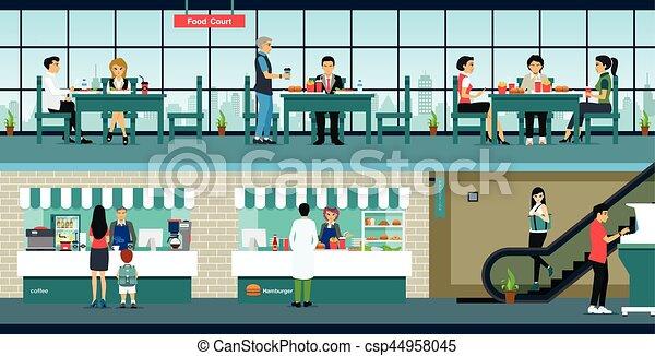 Restaurante de comida rápida - csp44958045