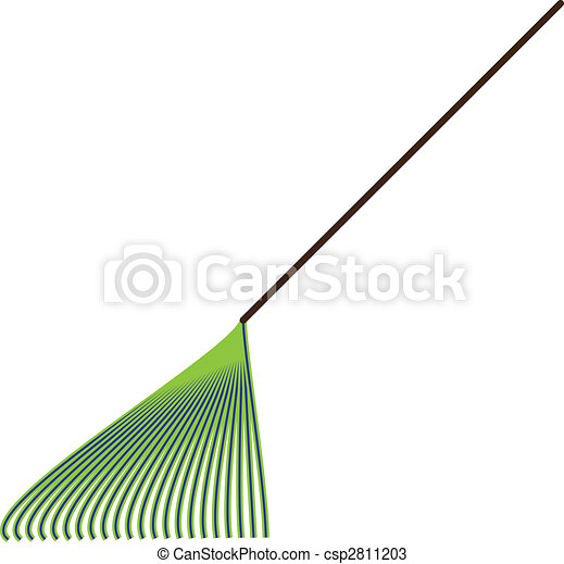 râteau, vert - csp2811203