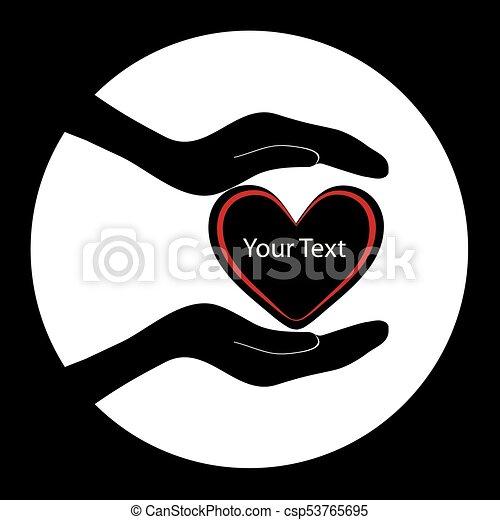 räcker, holdingen, hjärta - csp53765695