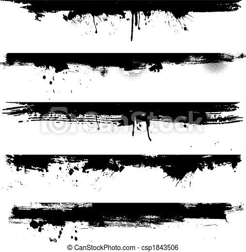 ränder, grunge, detail - csp1843506