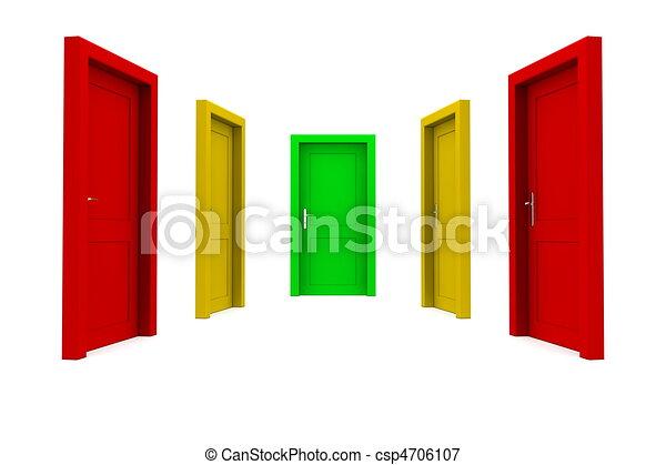 rättighet, dörr, välja - csp4706107