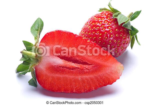 rå frukt, jordgubbe - csp2050301