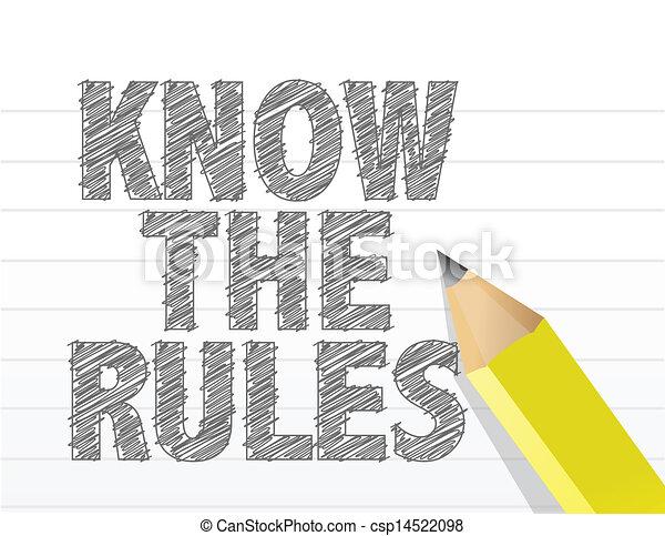 règles, bloc-notes, écrit, papier, savoir, vide - csp14522098