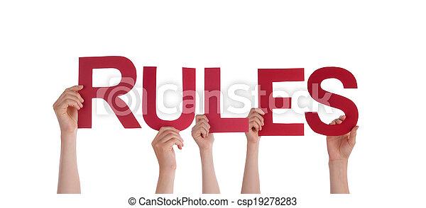règles, tenant mains - csp19278283