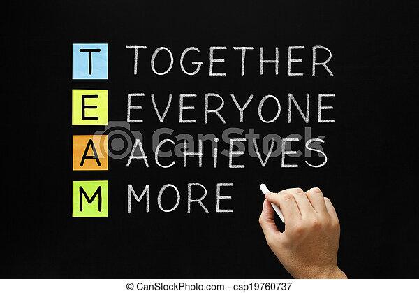 réalise, équipe, everyone, ensemble, plus - csp19760737