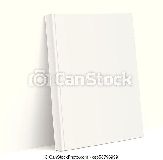 Realiste Blanc Couverture Livre Vide