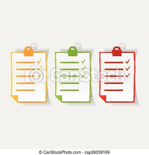 réaliste, conception, liste, element. - csp26039169