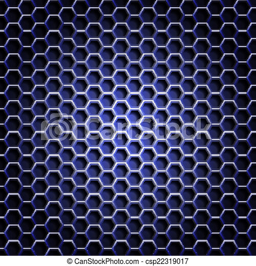 réaliste, grille, hexagonal, backgroun - csp22319017
