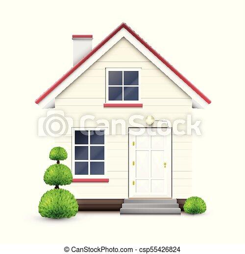 réaliste, vecteur, maison