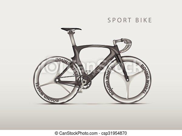 Réaliste Vecteur Vélo Route Courses