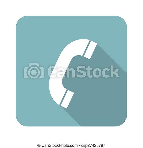 récepteur téléphone, icône - csp27425797