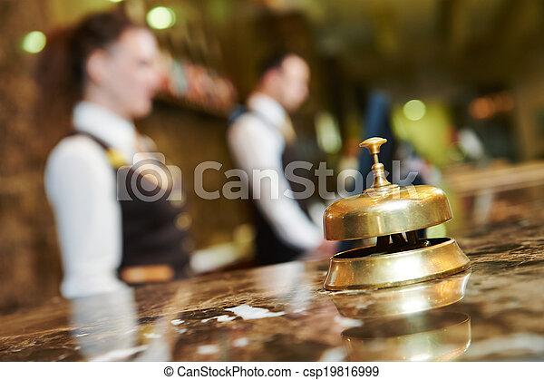 réception hôtel, cloche - csp19816999