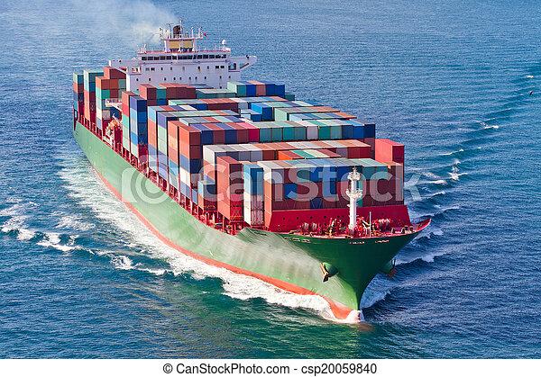 récipient bateau - csp20059840