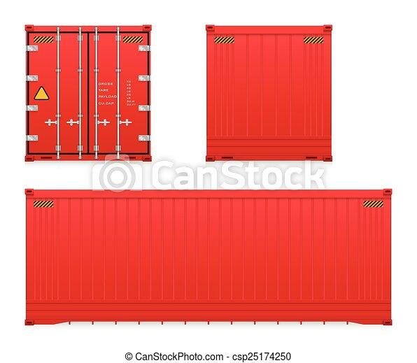 récipient cargaison - csp25174250