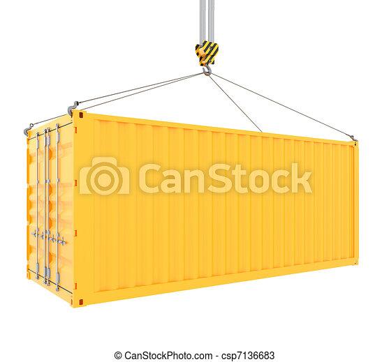 récipient cargaison - csp7136683
