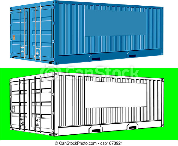 récipient cargaison, fret - csp1673921