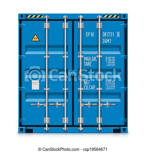 récipient cargaison, fret, expédition - csp19564671
