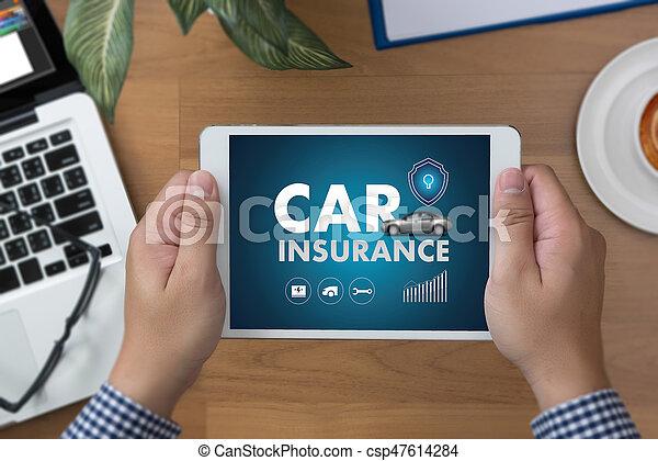 réclamation, accident, policies, voiture, sécurité, reportage, assurance, risque - csp47614284