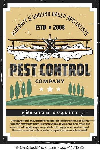 récolte, casse-pieds, biplan, chiffon, cultures, contrôle - csp74171222