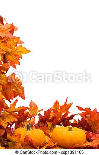 récolte, frontière, automne - csp1391165