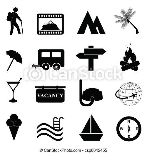 récréation, ensemble, loisir, icône - csp8042455