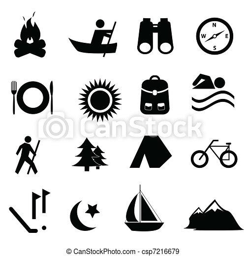récréation, loisir, icônes - csp7216679