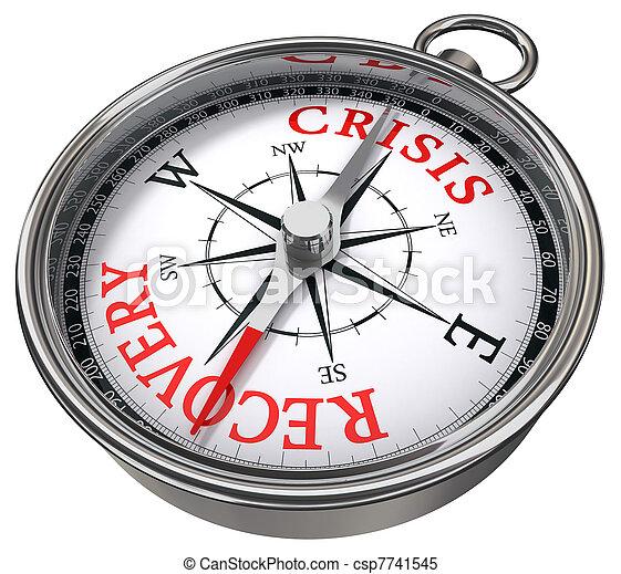 récupération, concept, vs, crise, compas - csp7741545